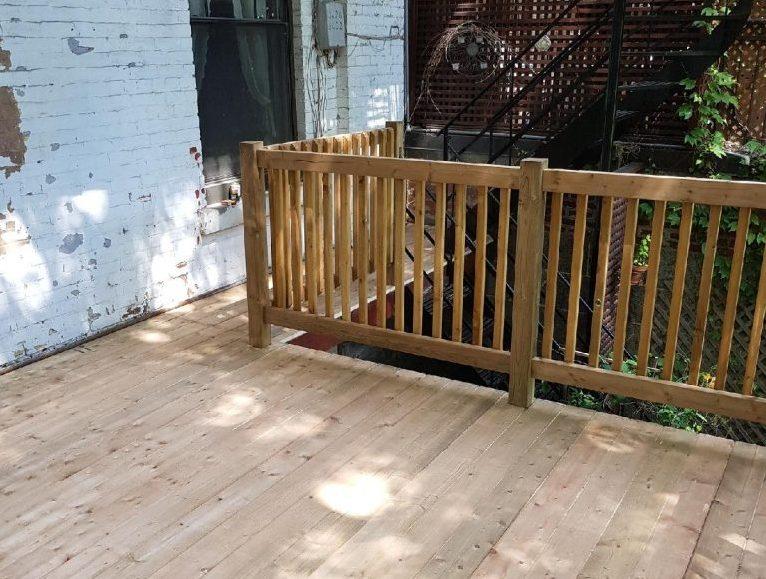 Construction de terrasse